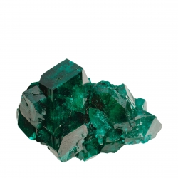 Dioptase - 3-cm main crystal - SOLD