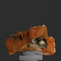 Wulfenite, 1.6 x 1.3 x 0.9 cm.