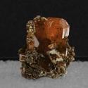 Wulfenite, 1.7 x 1.3 x 0.9 cm.
