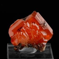 Wulfenite, 2.5 x 2.4 x 0.5 cm