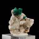 Dioptase, 3.7 x 3.4 x 3 cm.