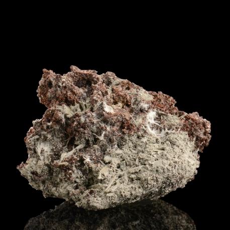Rhodochrosite, Leifite,  9.5 x 6 x 5 cm.