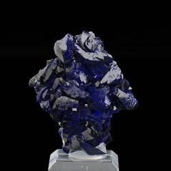 Azurite,  5.7 x 5 x 1.8 cm.