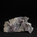Quartz (Amethyst variety), Calcite, 17 x 9 x 3.5 cm.
