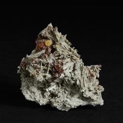 Elpidite, Rhodochrosite, 7 x 6 x 4.5 cm.
