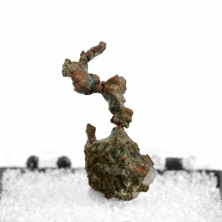 Copper, 2.1 x 1.2 x 0.9 cm.