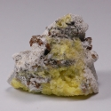 Calcite, Gonnardite epimorph of Analcime (?), 4.5 x 3.5 x 3 cm.
