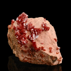 Vanadinite, Mibladen, Morocco - miniature