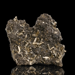Arsenopyrite, Carmen Mine, Peru - small cabinet