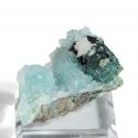 Libethenite, Quartz, 4.5 x 3 x 2.7 cm.