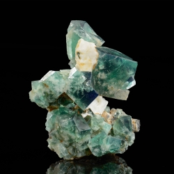 Fluorite, Rogerley Mine, United Kingdom - miniature