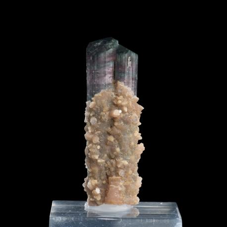 Elbaite, 8.5 x 2.8 x 2.7 cm.