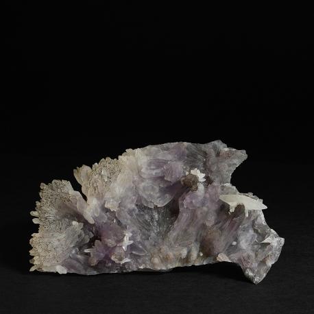 Amethyst (a variety of Quartz), Calcite