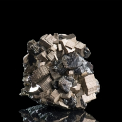Pyrite, Sphalerite,  6.5 x 6.3 x 5 cm.