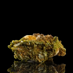 Pyromorphite, Chaillac Mine, France - miniature