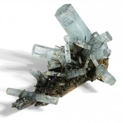 Beryl (Aquamarine variety), Schorl - SOLD