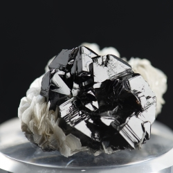 Cassiterite, Mount Xuebaoding, China - miniature