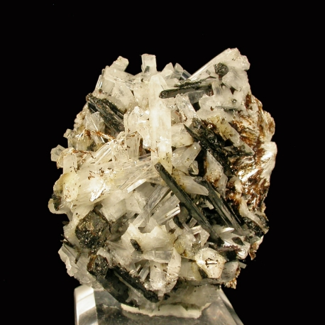 Natrolite, Leifite, Poudrette Quarry, Canada - miniature
